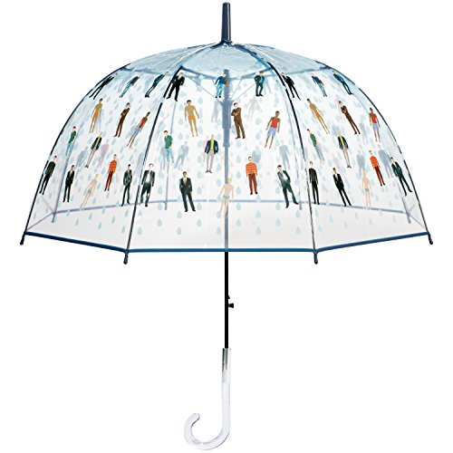 Raining Men Clear Bubble Dome Umbrella