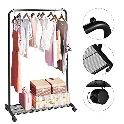 Clothes Rack on Wheels