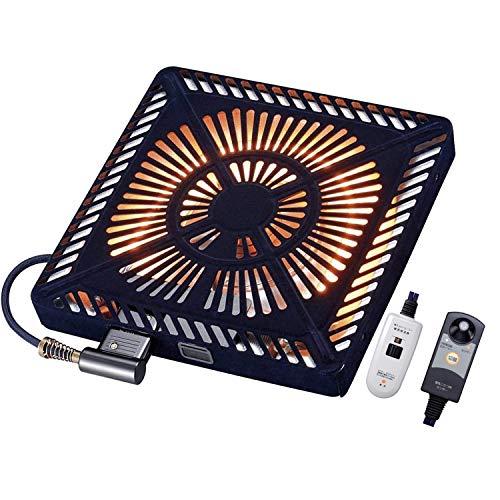 [山善] こたつ用 取替えヒーター 600W U字型 ハロゲンヒーター 速暖 人感センサー搭載 ファンタイプ 手元コントローラー付き 温風ヒーター YHF-HDN600HS [メーカー保証1年] ブラック