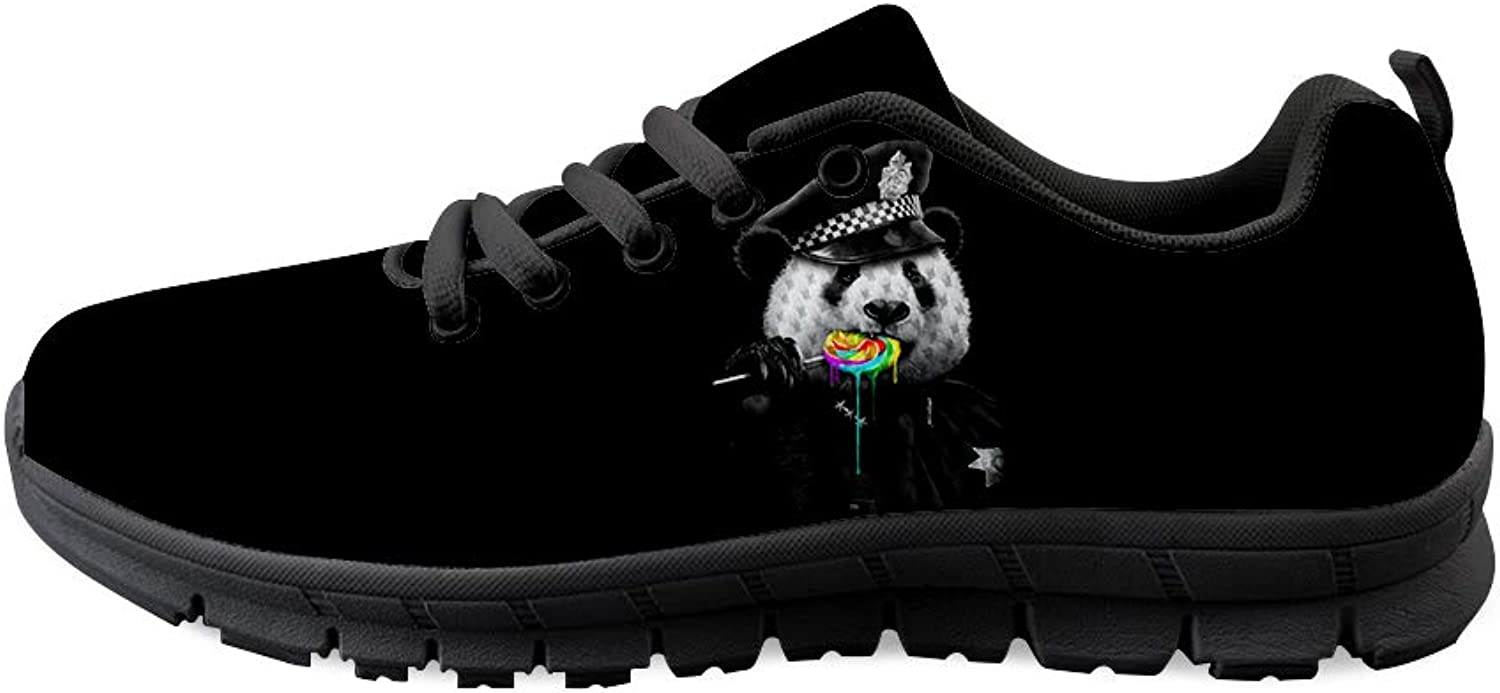 Owaheson Lace-up Sneaker Training shoes Mens Womens Panda Bear Rainbow Lollypop Police Cop