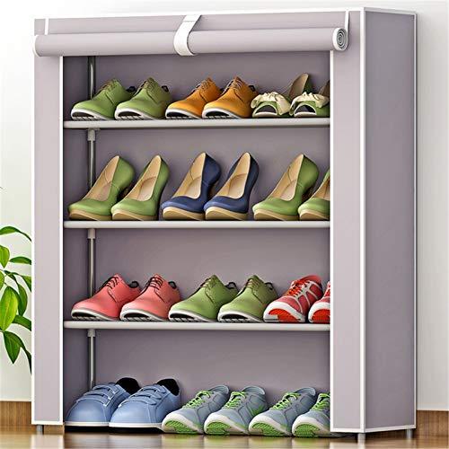 Organizador de zapatero El estante de zapatos del armario de 3 capas puede acomodar 12 pares de gabinetes de torre de zapatos metálicos no tejidos. Durable y estable ( Color : A2 , Size : 61x30x63cm )