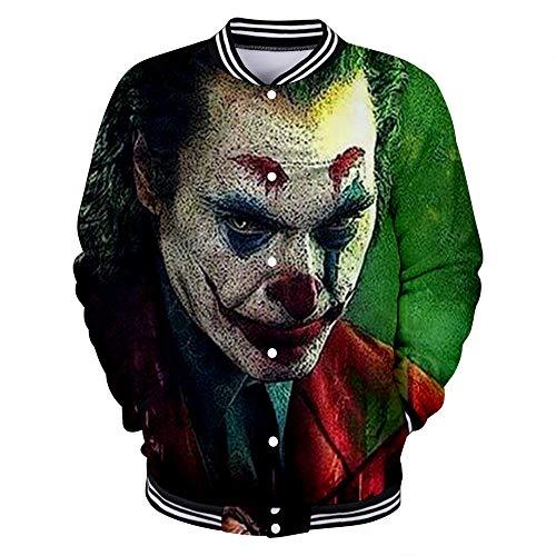 uDaShaA Unisex Joker Kostüm Hoodie 3D gedruckt Pullover Sweatshirt mit Tasche Herrenjacke Weihnachtsfeier Cosplay Kostüm