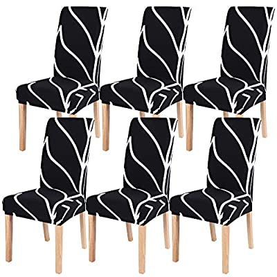 SearchI Dining Room Chair Covers Set of 6, Stre...