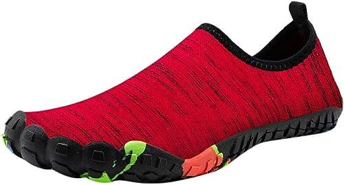 XOVUD Chaussures d'eau Hommes Femmes Chaussures d'eau De Natation Chaussures D'été D'été Aqua Chaussures De Plage, Chaussettes Baskets Bord De Mer pour Hommes, chaussures Hombre