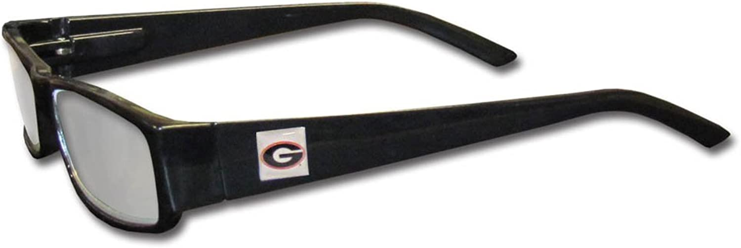 NCAA Georgia Bulldogs Reading +1.25 Glasses
