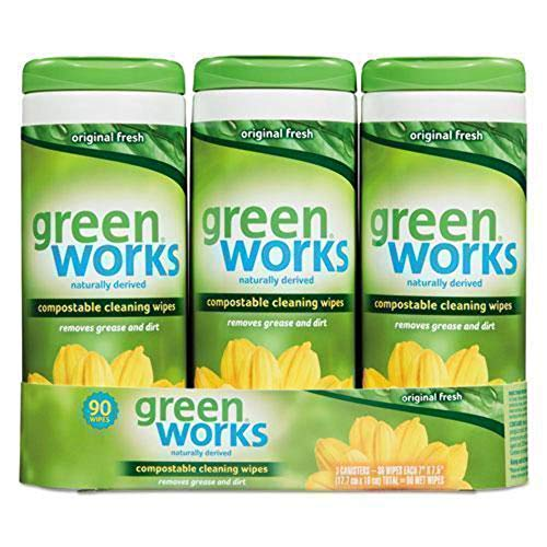 Green Works Compostable Cleaning Wipes CLO 30655