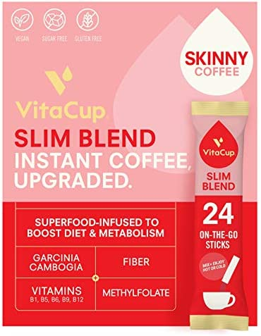 VitaCup Slim Coffee Instant Stick Hot or Cold Brew for Skinny Diet Metabolism with Vitamins product image