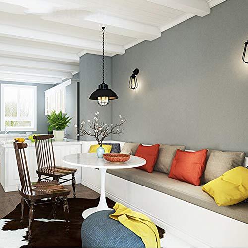 Moderne, minimalistische nahtlose Wandtapete, lange Faser, reine Pigment-Seide, selbstklebend, für Hotel, Schlafzimmer, Wohnzimmer, Hotel, Kleidergeschäft, einfarbig, 0,53 x 10 m, plastik, grau, Größe