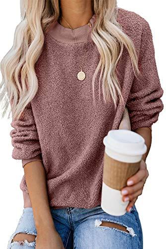 KINGFEN Long Sleeve Comfy Crewneck Sweatshirt Plus Size Cozy Pullover...
