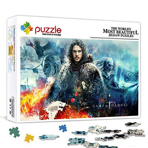HQHSC 1000-teiliges Puzzle für Erwachsene EIN Lied aus EIS und Feuer, Game of Thrones ChallengingBestes Geschenk für Erwachsene Kids Home Decor 29,5 x 19,5 Zoll