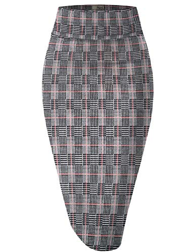 Hybrid & Company Womens Pencil Skirt for Office Wear KSK43584 10906 BLACKIVORY L