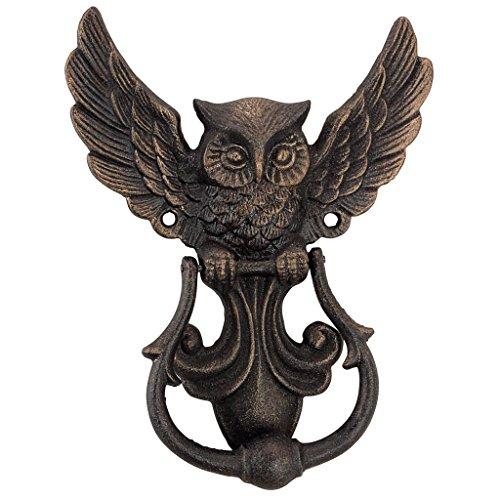 Design Toscano SP2993 Mystical Spirit Owl Authentic Foundry Door Knocker, gold