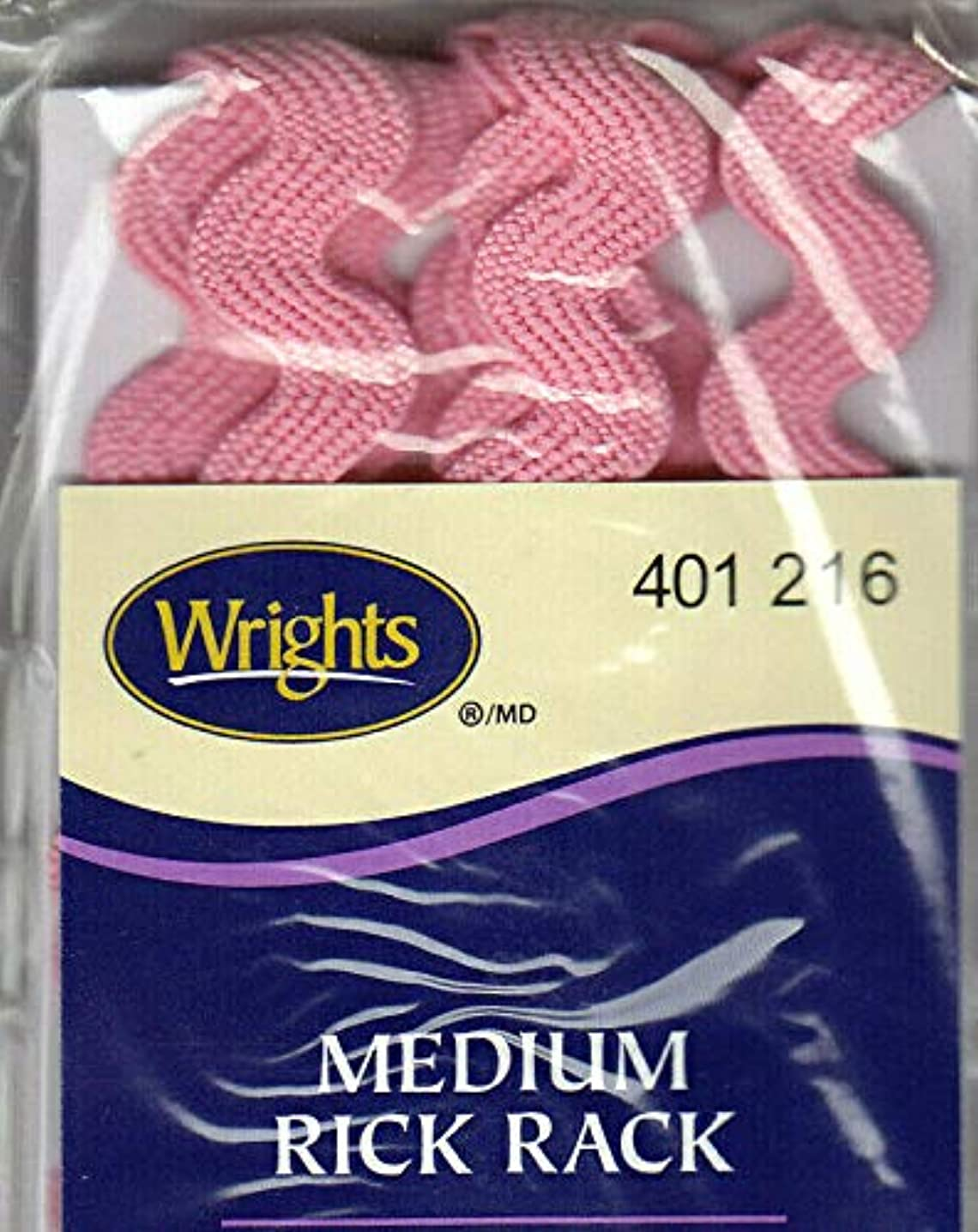 WRIGHTS CANDY PINK (216) MEDIUM RICK RACK - 2 1/2 YARDS (1/2