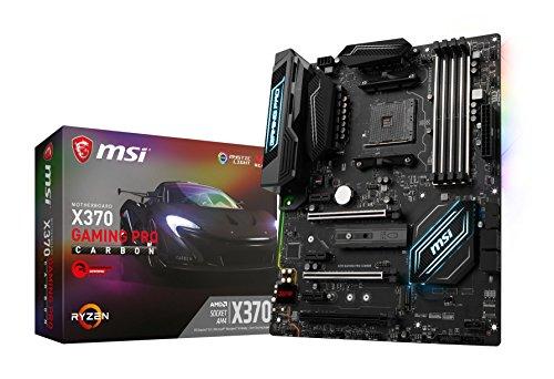 MSI X370 Gaming Pro Carbon AM4 Sockel (Formfaktor ATX, Mainboard-Chipsatz AMD,SATA III) schwarz