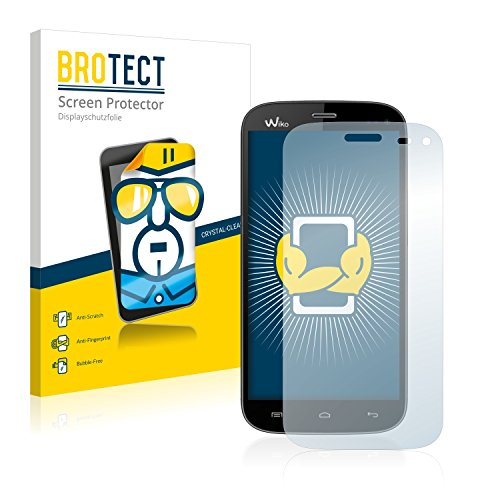 BROTECT Schutzfolie kompatibel mit Wiko Darkmoon (2 Stück) klare Bildschirmschutz-Folie