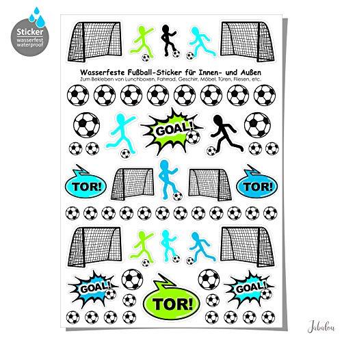 Jabalou wasserfeste Sticker Aufkleber Fußball