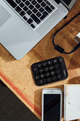 LogiLink ID0173 Funk Keypad mit 18 runden Tasten im kompakten, stylischen Design Schwarz
