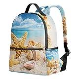 Mochila Tenboya para niñas, tropical, verano, playa, estrellas de mar, concha de mar, adolescente, escuela, mochila para mujer