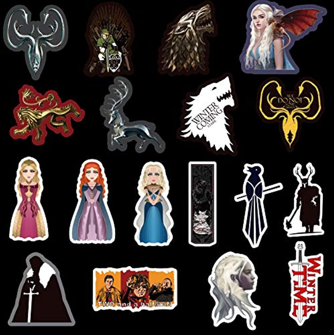 Laptop Stickers[100PCS], Cool Game of Thrones Vinyl Decals for Water Bottle Hydro Flask MacBook iPhone iPad Phone Case Computer Car Bike Bumper Skateboard Luggage, Graffiti Sticker for TV Fans