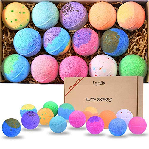 Bath Bombs Gift Set 14 – Lush Bubble Bath Fizzies Natural Vegan Essential Oil Bubble & Spa Bath Fizz Balls Kit Handmade Bathbombs for Women/Men/Kids/Boys/Girls Dry Skin Moisturize, Birthday Gift