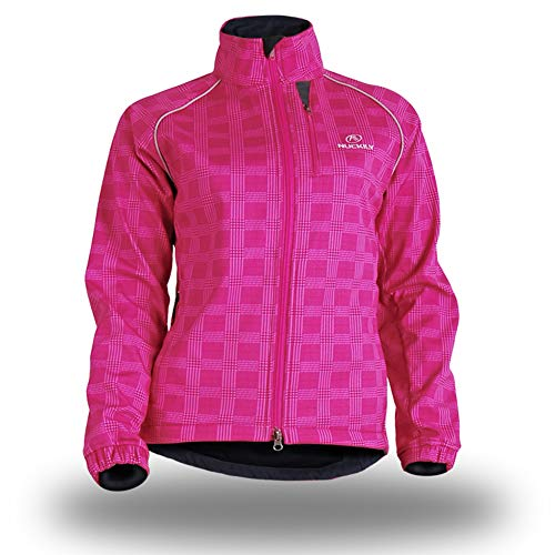 Ur HQCC Fahrradtrikot für Herren, langärmelig, Thermo-Top und atmungsaktive Radbekleidung, Rose, XL