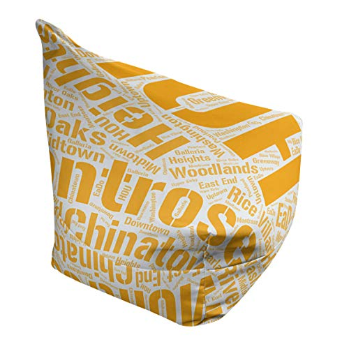 Affordable ArtVerse Rand Cites Houston, Texas Districts Word Art-Orange Bean Bag Cover w/Inner Shell...