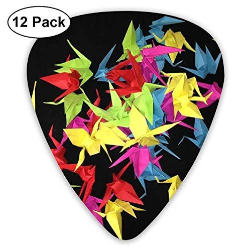 Púas de guitarra clásica Papel Origami Art Crane Plectrums Instrument