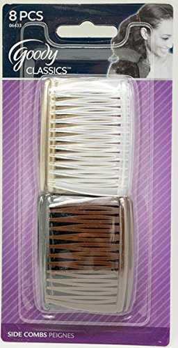 Goody Women Classics Multi Pack Short Side Combs, 8 Count