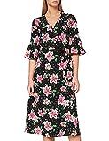 Marca Amazon - find. Vestido Cruzado de Flores Mujer, Multicolor (Pink Floral), 42, Label: L