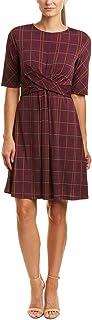 Donna Morgan womens Twist Front Jersey Dress Casual Dress