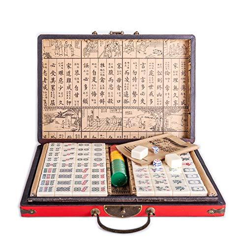 Lim Chino riichi Mahjong Set 144 Azulejos (Mahjongg, Mah-