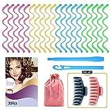20 PCS Heatless Hair Curlers No Heat Hair...