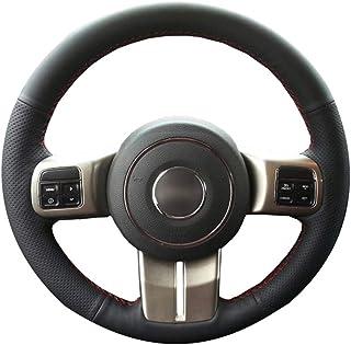 L/&U 3Pcs ABS Kit coprivolante Decorativo per Volante Auto per Jeep Patriot Compass Wrangler JK 2011-2017 Grand Cherokee 2011-2013,Argento