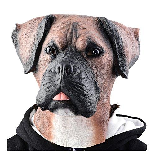 アニマルマスク ボクサー犬 マスク パーティーマスク 衣装 雑貨 コスプレグッズ 被り物 忘年会 パーティー グッズ 変装用マスク デラックスな ラテックス マスク
