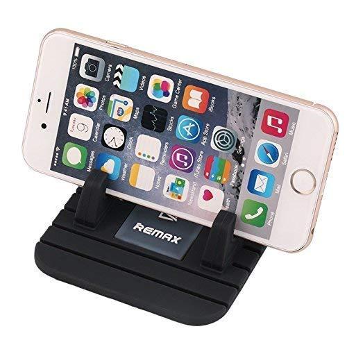 Remax Soporte para Coche, Soporte Silicona Antideslizante para Salpicadero De Coche para Los Smartphone Samsung, iPhone, Smartphone, GPS, Color Negro