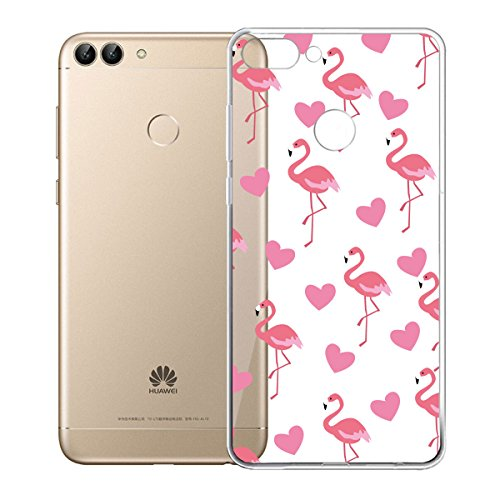 YIGA Schutzhülle für Huawei P Smart/Huawei Enjoy 7S, transparent, aus flexiblem TPU-Kunststoff, 14,35 cm (5,65 Zoll)
