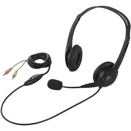 BUFFALO 両耳ヘッドバンド式ヘッドセット 半密閉タイプ ブラック BSHSH07BK
