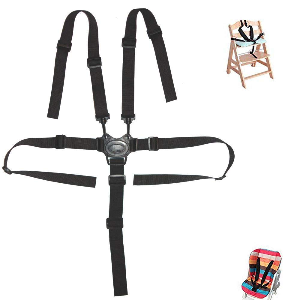 High Chair Strap - Baby 5 Point Harness Belt for Stroller High Chair