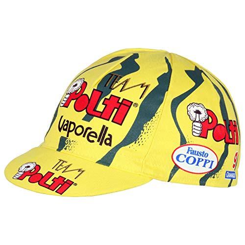 Apis Team Polti Vaporella Fausto Coppi Retro Cappellino Ciclismo Team Bike Podio cap