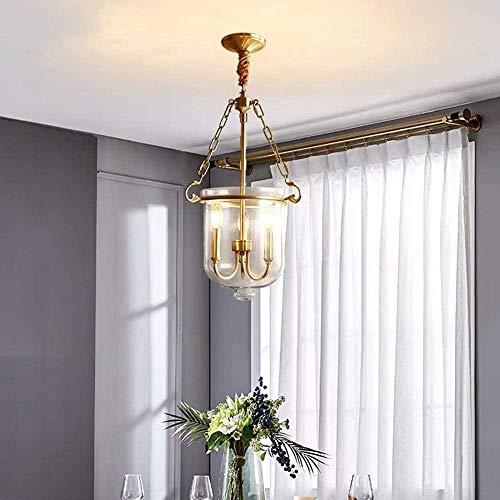 Dormitorio de cobre completo, luz de la sala de estar, restaurante de lujo, cristal, país, lámpara de iluminación minimalista moderna