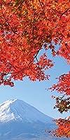秋の景色 タペストリー 防炎加工 富士紅葉 高さ180㎝