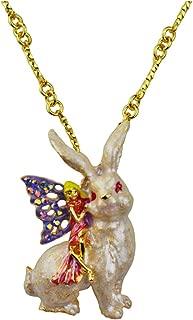 Kirks Folly My Fairy Honey Bunny Pin Pendant with Chain Goldtone