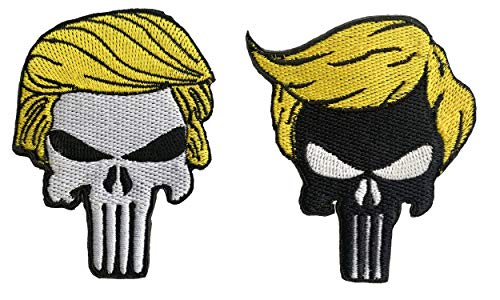 Trump Skull Patch Sew or Iron on Patches Skull Donald Trump President for Clothing Jackets Backpacks Jeans #1