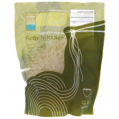 Sea Tangle Noodle Company Kelp Noodles 12 Oz (3 Pack) - Vegetarian Noodles Made from Kelp Suitable for Everyone's Liking