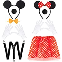 Set of 2 Haooryx Mouse Halloween Costume for Boys & Girls