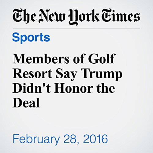 Members of Golf Resort Say Trump Didn't Honor the Deal audiobook cover art