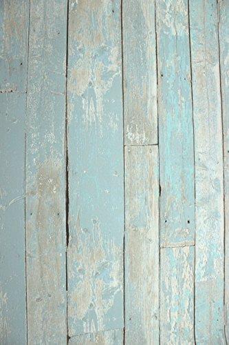 BN Wallcoverings Vlies Tapete Antik Holz rustikal blau türkis beige verwittert