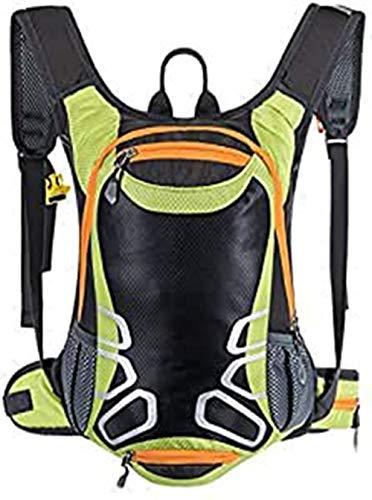 Zaino da ciclismo con porta casco zaino bicilindrico traspirante ultraleggero resistente 15L leggero zaino da sci piccolo bici zaino per campeggio escursionismo sci alpinismo trekking