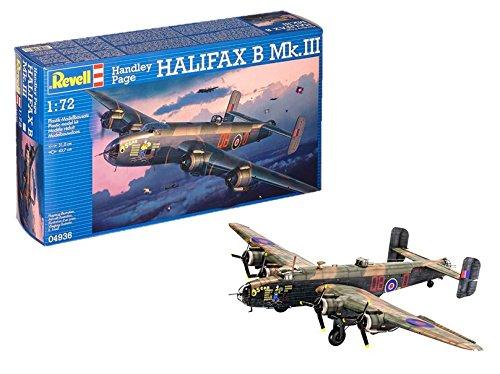 Revell Modellbausatz Flugzeug 1:72 - Handley Page HALIFAX B Mk.III im Maßstab 1:72, Level 5, originalgetreue Nachbildung mit vielen Details, 04936