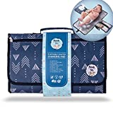 Portable Diaper Changing Pad by Meraki Baby | Waterproof Station Mat Ideal Travel Kit | Easy to Clean | Large Storage...